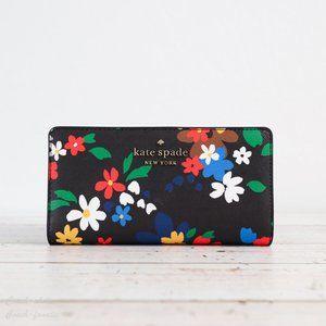 NWT Kate Spade Staci Sailing Floral Bifold Wallet